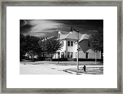Low Density Residential Housing Real Estate In Celebration Avenue Florida Usa Framed Print