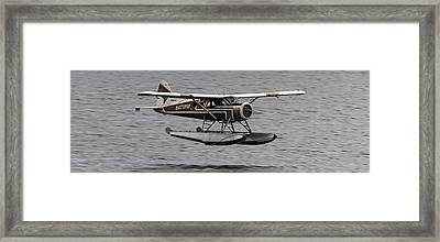 Low Flying Plane 003 Framed Print