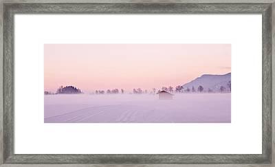 Low Fog Framed Print