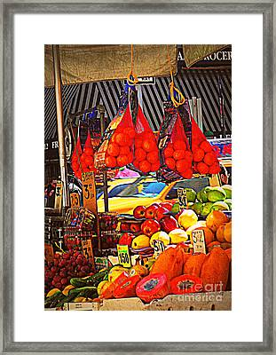 Low-hanging Fruit Framed Print by Miriam Danar