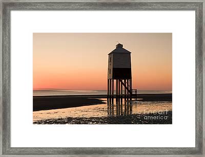 Low Lighthouse Sunset Framed Print