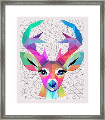 Low Poly Art Framed Print by Mark Ashkenazi