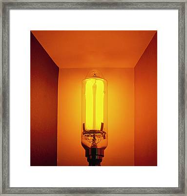 Low-pressure Sodium Lamp (lps) Framed Print