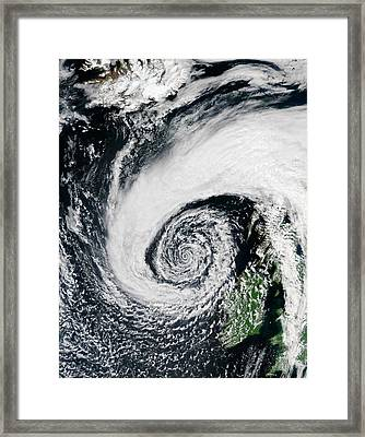 Low Pressure System Off Of Ireland Framed Print