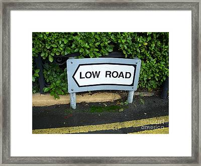 Low Road Framed Print