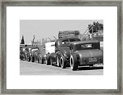 Low Row Framed Print