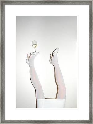 Low Section Of Woman Balancing Wine Framed Print by Kostis Fokas / Eyeem