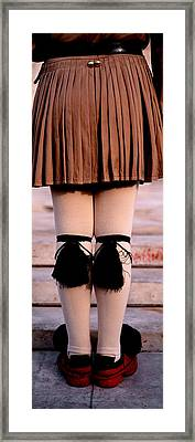 Low Section View Of An Army Soldier Framed Print