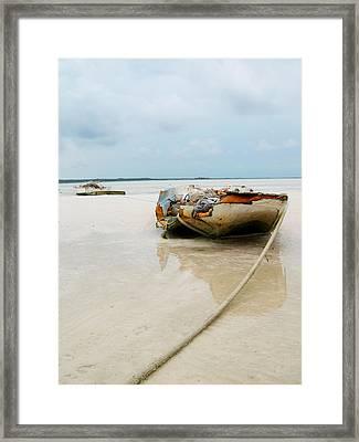 Low Tide 3 Framed Print by Sarah-jane Laubscher