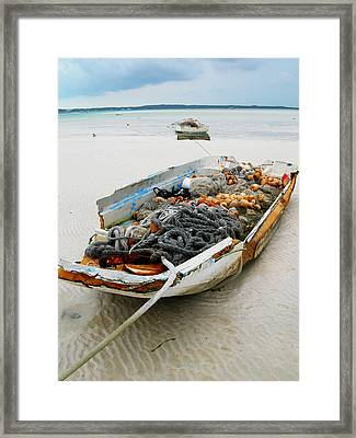 Low Tide 4 Framed Print by Sarah-jane Laubscher