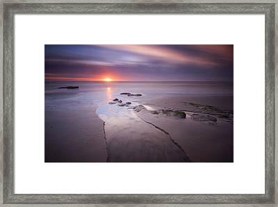 Low Tide At Glyne Gap Framed Print by Mark Leader