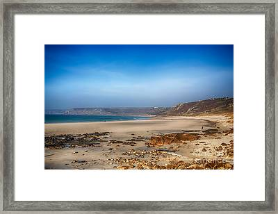 Low Tide At Sennen Cove Framed Print by Chris Thaxter