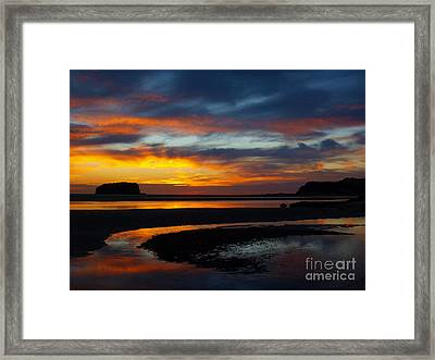 Framed Print featuring the photograph Low Tide At Sunrise by Trena Mara