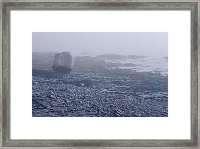 Low Tide Bar Harbor Me Framed Print by Steve Gadomski