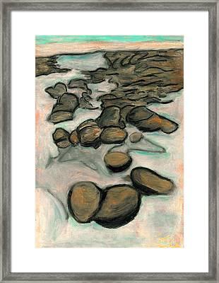 Low Tide Framed Print by Carla Sa Fernandes