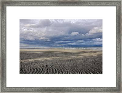 Low Tide Sandscape Framed Print by Roxy Hurtubise
