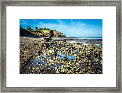 Framed Print featuring the photograph Low Tide. by Gary Gillette