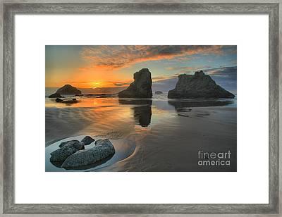 Low Tide Giants Framed Print by Adam Jewell