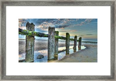 Low Tide Groynes Framed Print