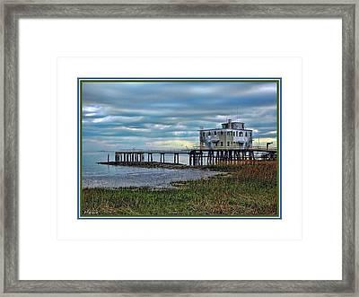Low Tide In Charleston Framed Print by Barry Monaco