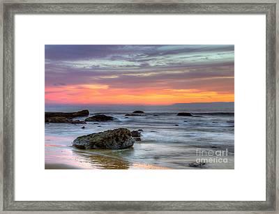 Low Tide In Newport Beach Framed Print by Eddie Yerkish