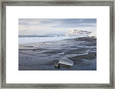 Low Tide In The Winter Framed Print by Tim Grams