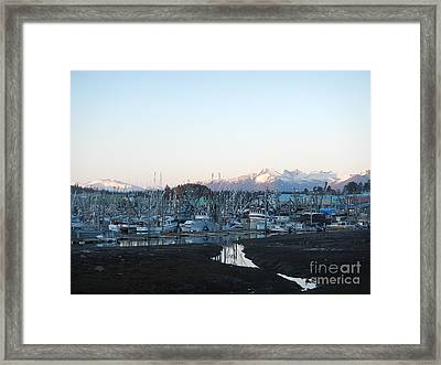 Low Tide In Winter Framed Print