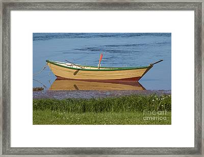 Low Tide Reflection Framed Print