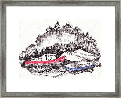 Low Tide Framed Print by Robert Parsons