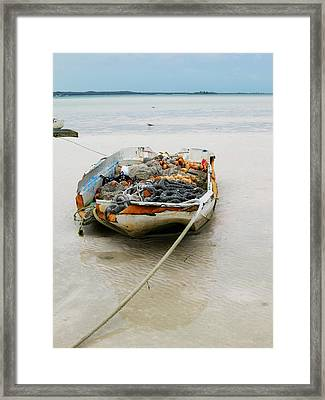 Low Tide Framed Print by Sarah-jane Laubscher