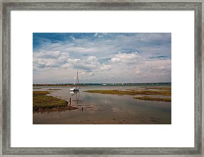 Low Tide Framed Print by Shirley Mitchell