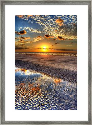 Low Tide Sunrise On Jekyll Island Framed Print