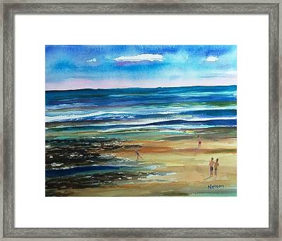 Low Tide Wells Beach Maine Framed Print