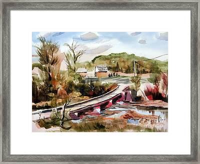 Low Water Bridge Across Stouts Creek Framed Print by Kip DeVore