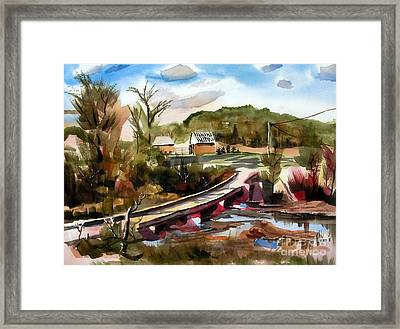 Low Water Bridge II Framed Print by Kip DeVore