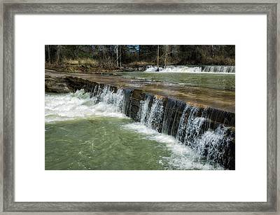 Low Water Crossing Framed Print by James Barber