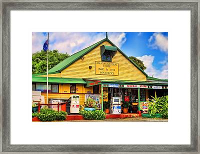 Lowanna General Store Framed Print by Wallaroo Images
