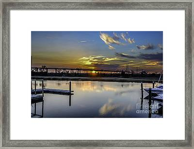 Lowcountry Marina Sunset Framed Print