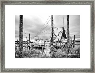 Lowcountry Shrimp Boat Framed Print