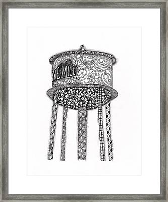 Lowe Mill Water Tower Framed Print