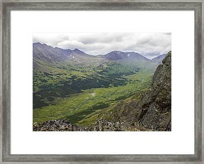 Lowe Peak From Flat Top Framed Print by Saya Studios