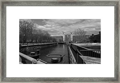 Lowell Ma Architecture Bw Framed Print