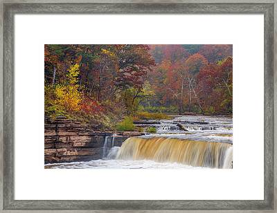 Lower Cataract Falls On Mill Creek Framed Print