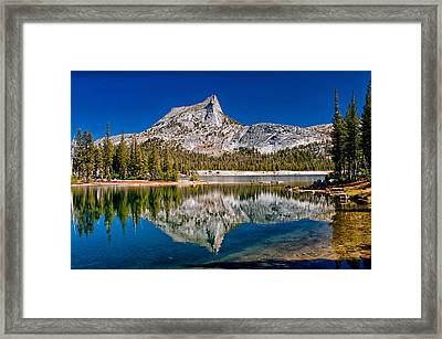 Lower Cathedral Lake Framed Print by Cat Connor