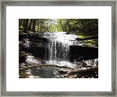 Lower Chapel Brook Falls Framed Print