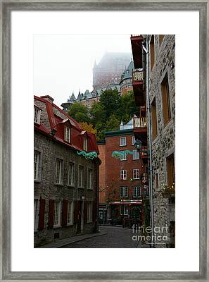 Lower City Quebec Framed Print by Tannis  Baldwin