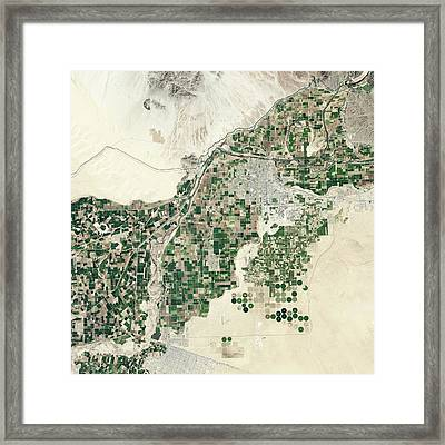 Lower Colorado River Framed Print by Nasa Earth Observatory
