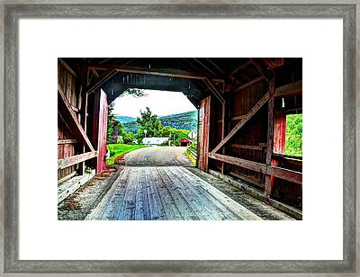 Lower Covered Bridge Framed Print