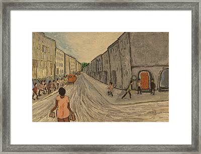 Lower East Side Street Framed Print