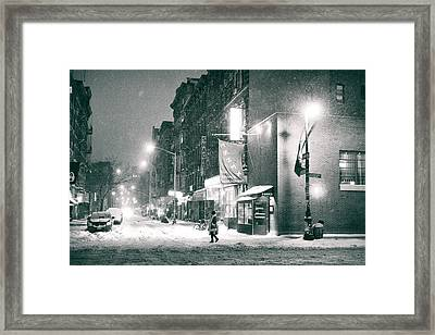 Lower East Side - Winter Night - New York City  Framed Print